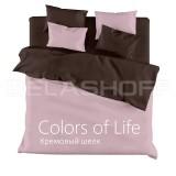 Комплект постельного белья «Кремовый шелк»